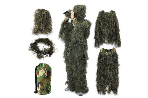 Camo Suit Woodland and Forest Design Military 3d Leaf