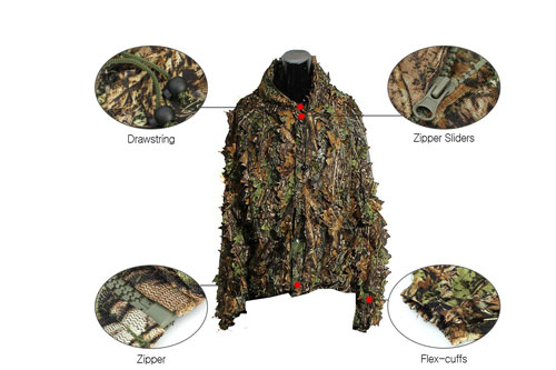 Camo-Suits-Ghillie-Suits-3D-Leaves-Woodland